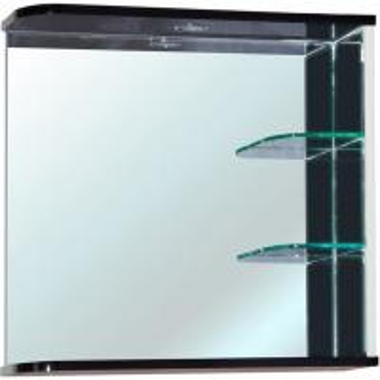 Зеркало для ванной комнаты Bellezza Рио 70 R черно/белое