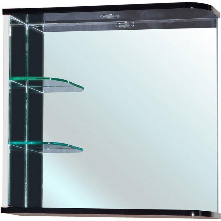 Зеркало для ванной комнаты Bellezza Рио 70 L черно/белое
