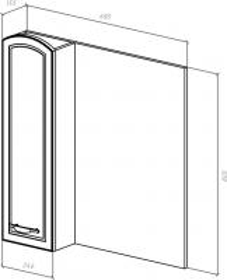 Зеркало-шкаф Амелия 70 L белое