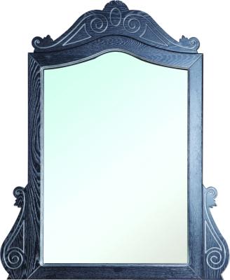 Зеркало в ванную из массива Аврора 115 черное патина серебро