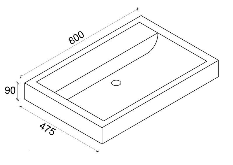 раковина для ванной комнаты Dreja Q80