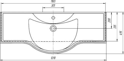 Мебельная раковина Kirovit Классик 120