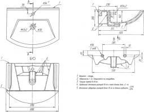 Мебельная раковина Dreja Альфа 65
