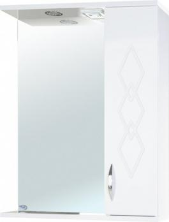 Зеркало-шкаф Элеганс 50 R белое