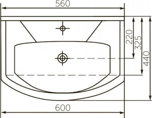Мебельная раковина Rosa Элеганс 60