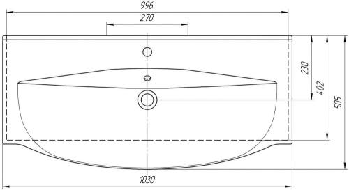 Раковина мебельная KIROVIT Элвис 105